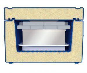 Optimale Lösung für den Bluttransport ist eine Polyethylenbox mit Polyurethanschäumung